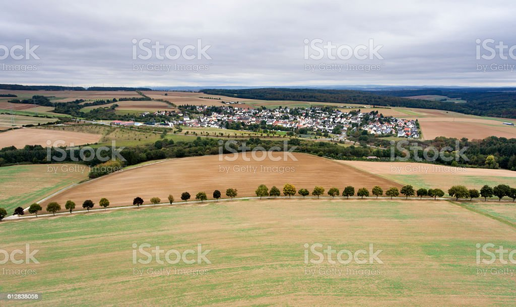 German landscape, aerial view stock photo