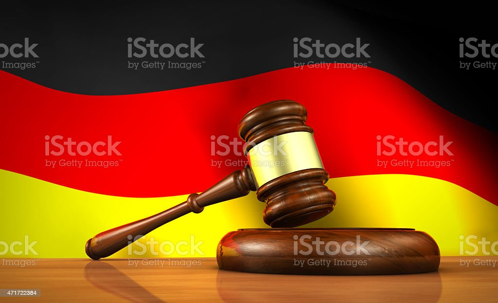 German Law And Justice Concept stock photo