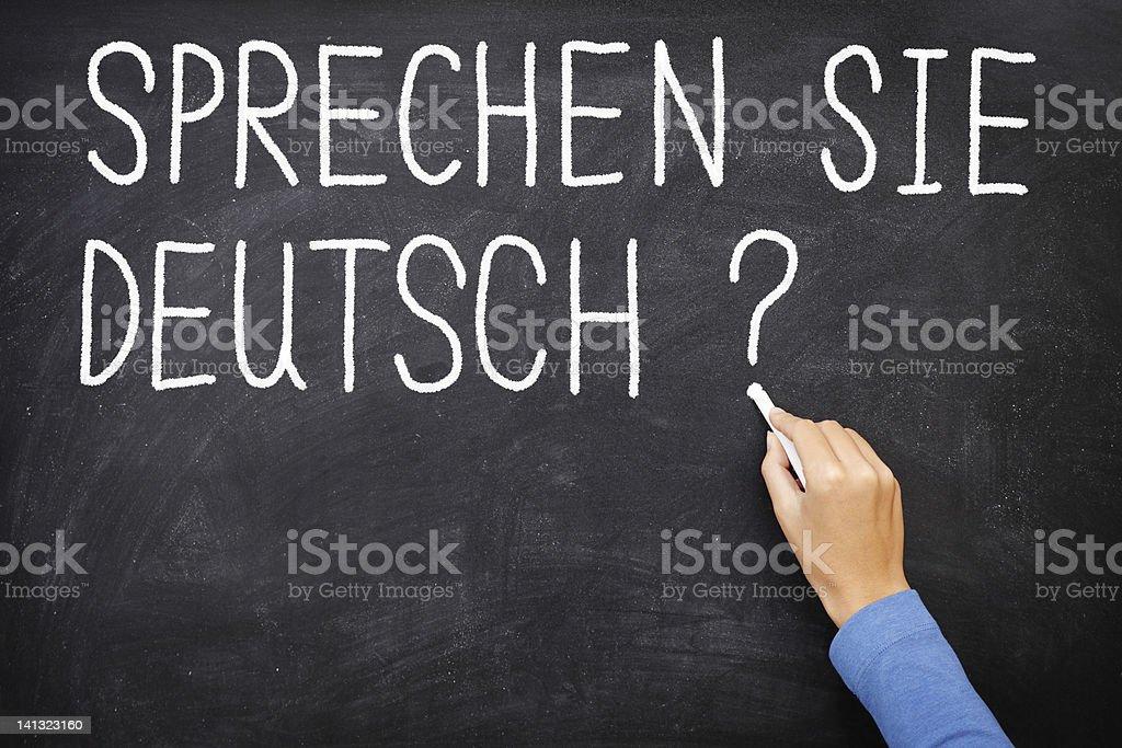 German Learning language royalty-free stock photo