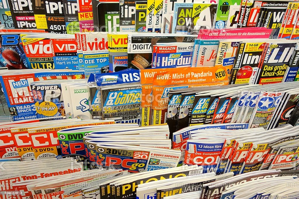 German magazines stock photo