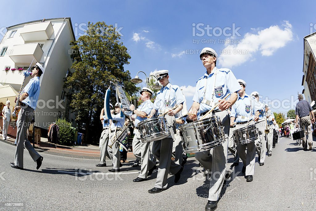 german marching band stock photo