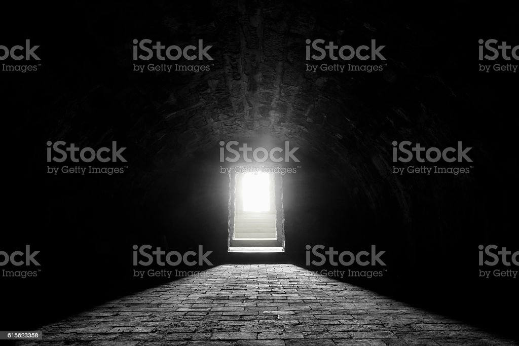 German medieval basement stock photo