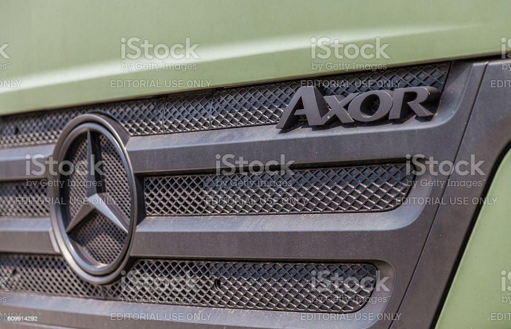 german mercedes benz axor stock photo