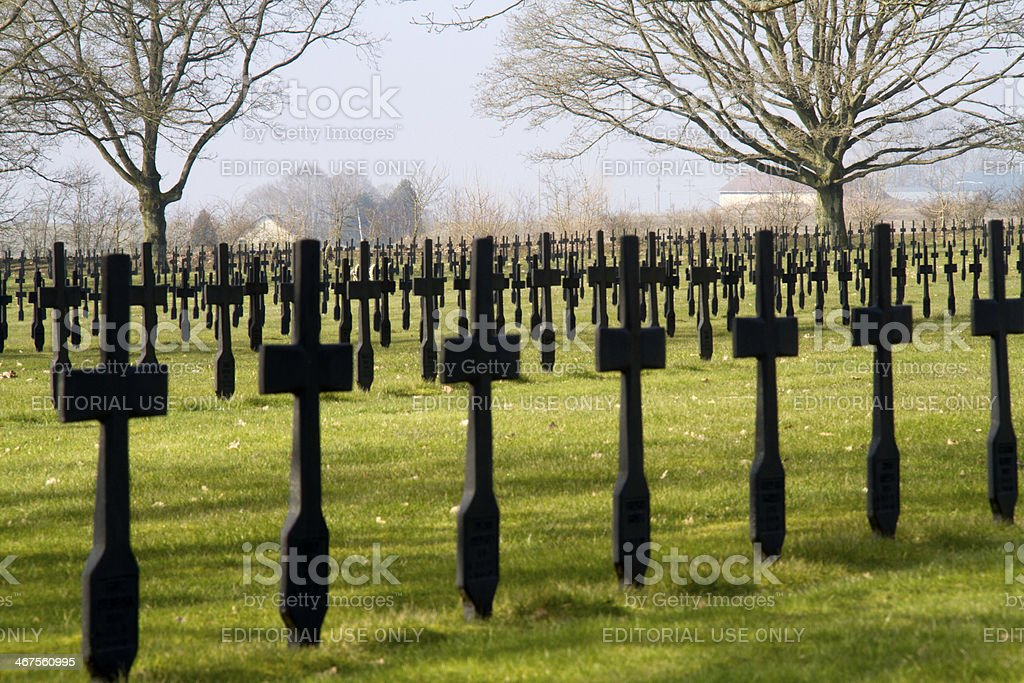 German military cemetery situated to Malmaison in Picardy, France. royalty-free stock photo