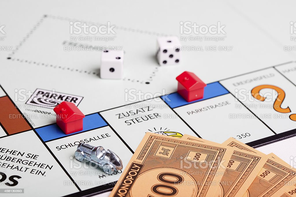 German Monopoly board: Schlossallee royalty-free stock photo
