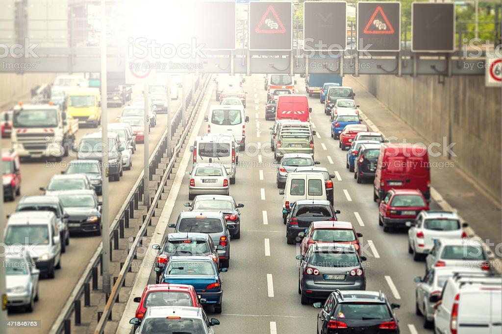 German motorway royalty-free stock photo