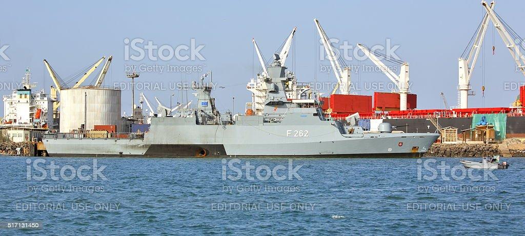 EU WARSHIP F-262, German multipurpose corvette stock photo