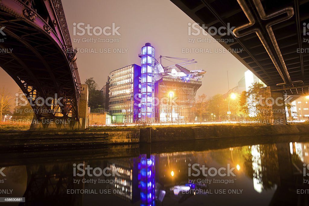 German Museum of Technology at Night, Berlin royalty-free stock photo