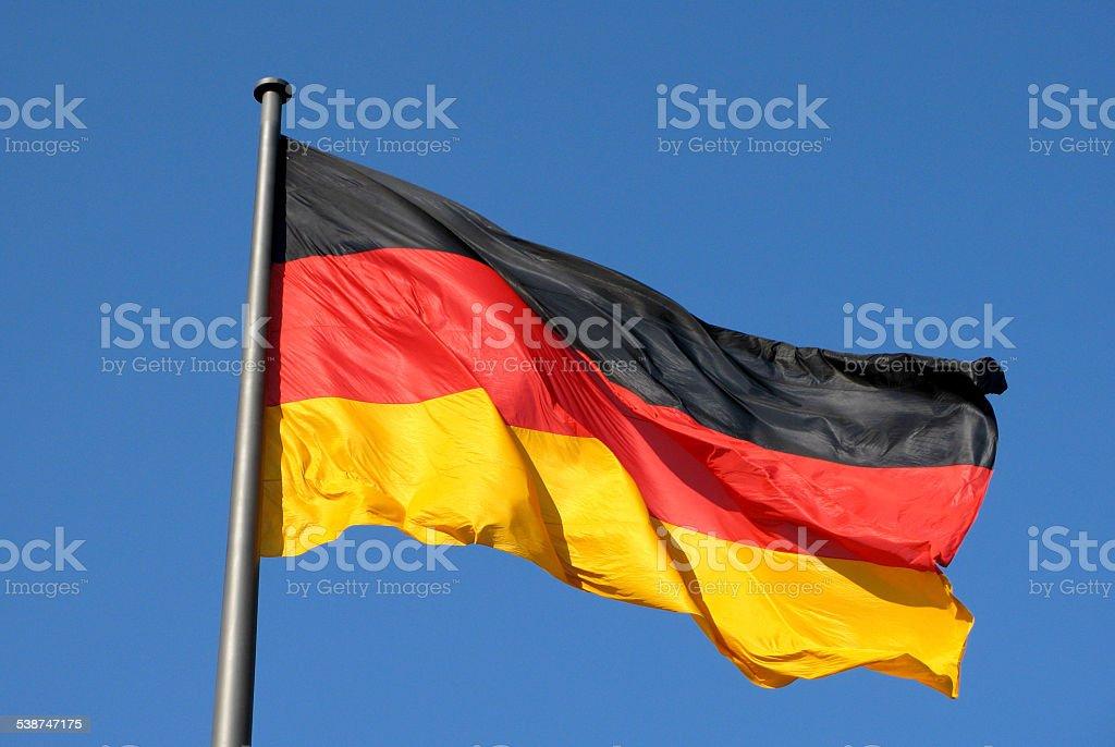 German national flag in Berlin stock photo