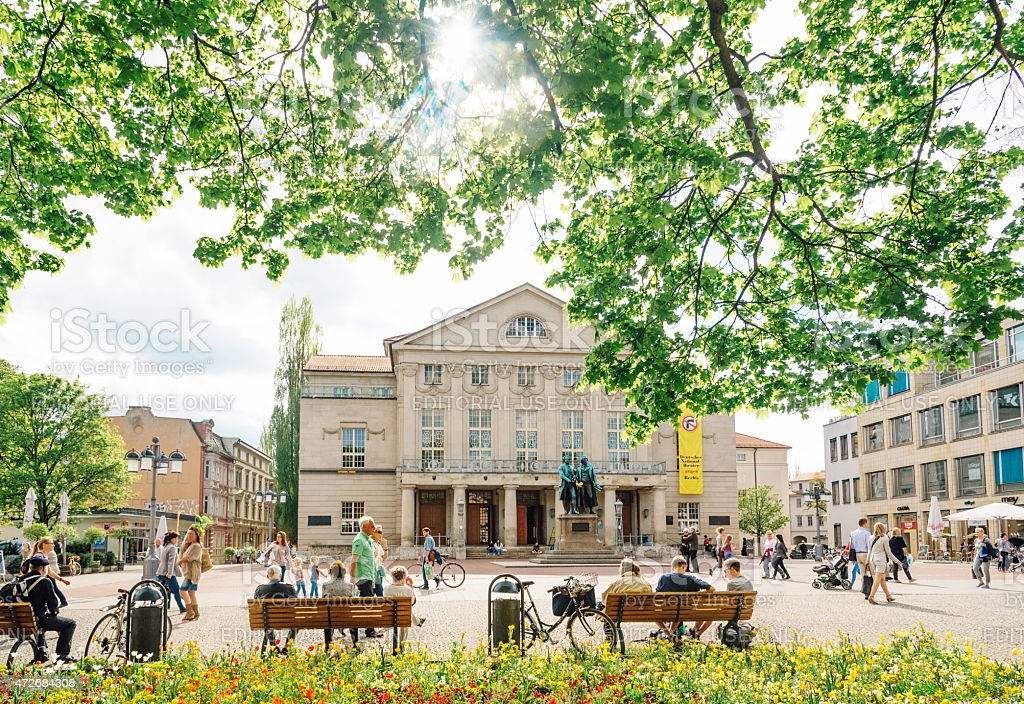 German National Theather in Weimar, Germany stock photo