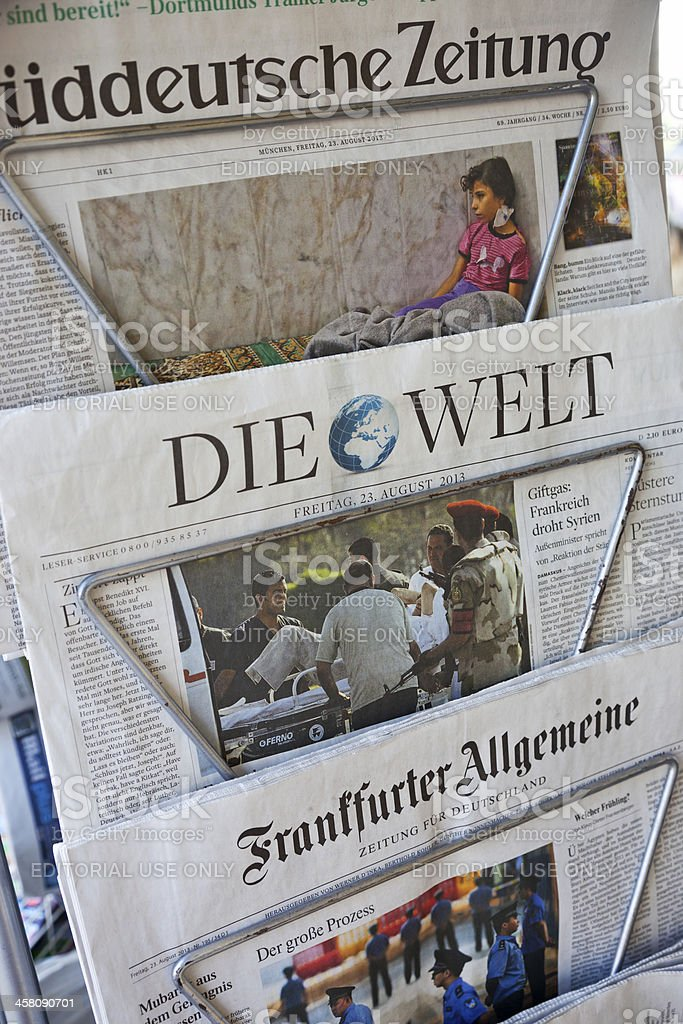 German newspapers royalty-free stock photo