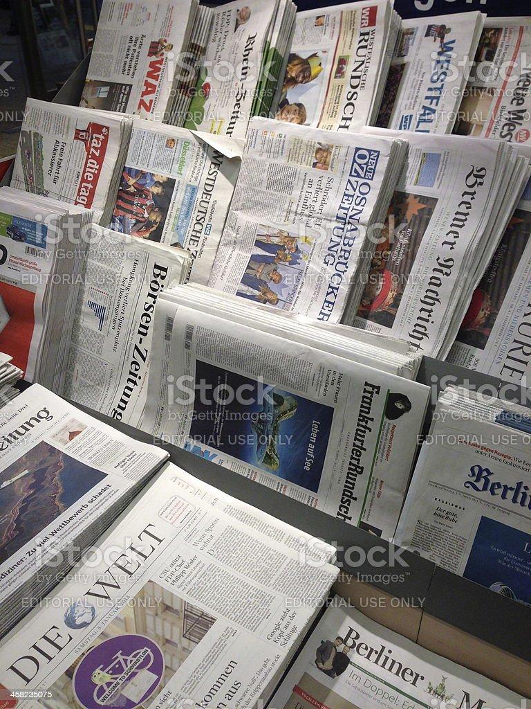 german newspapers royalty-free stock photo