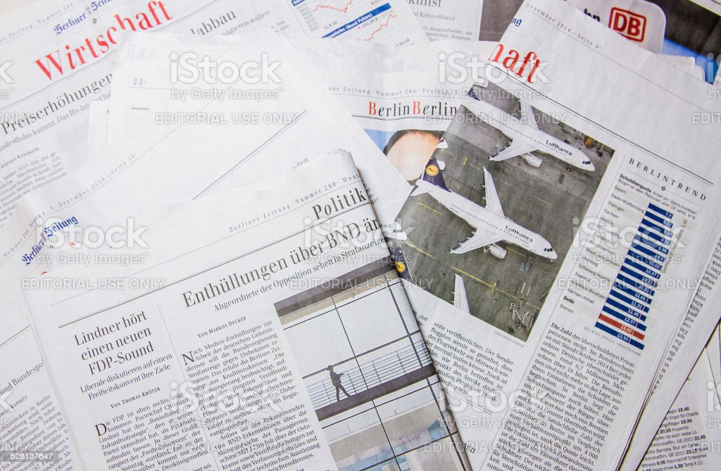 German newspapers stock photo