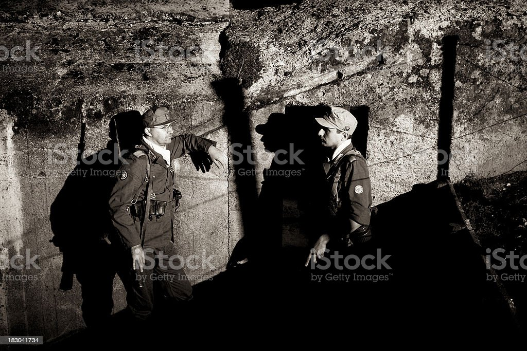 German officers stock photo