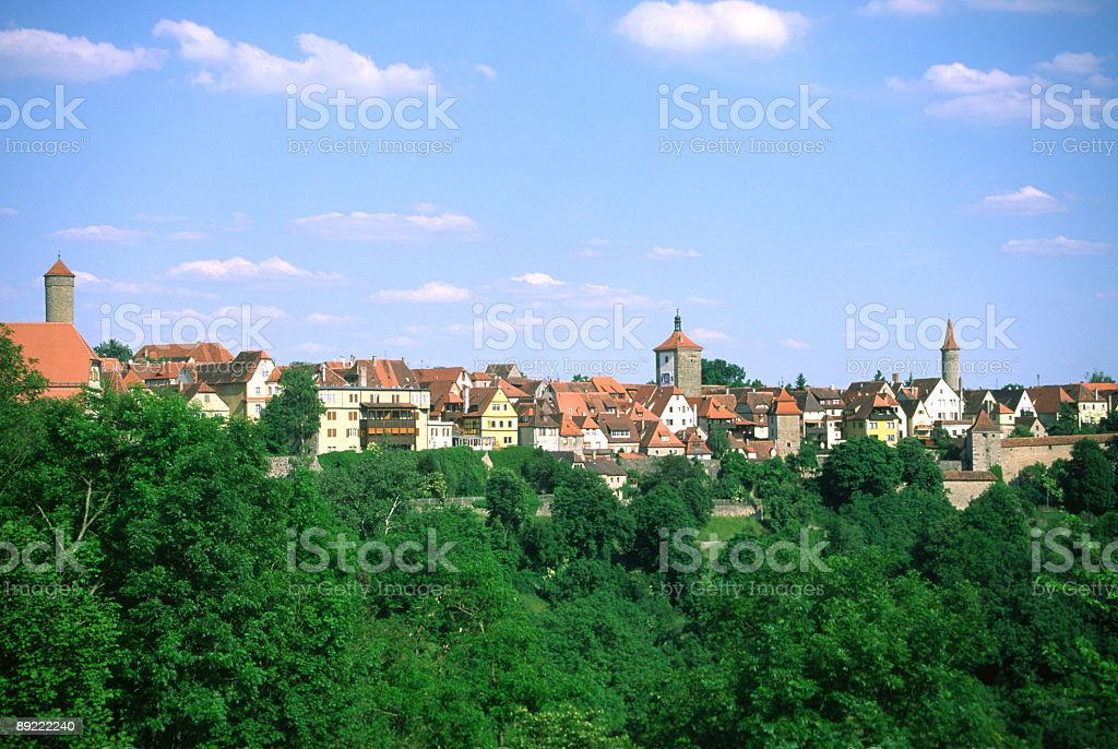 German old town stock photo