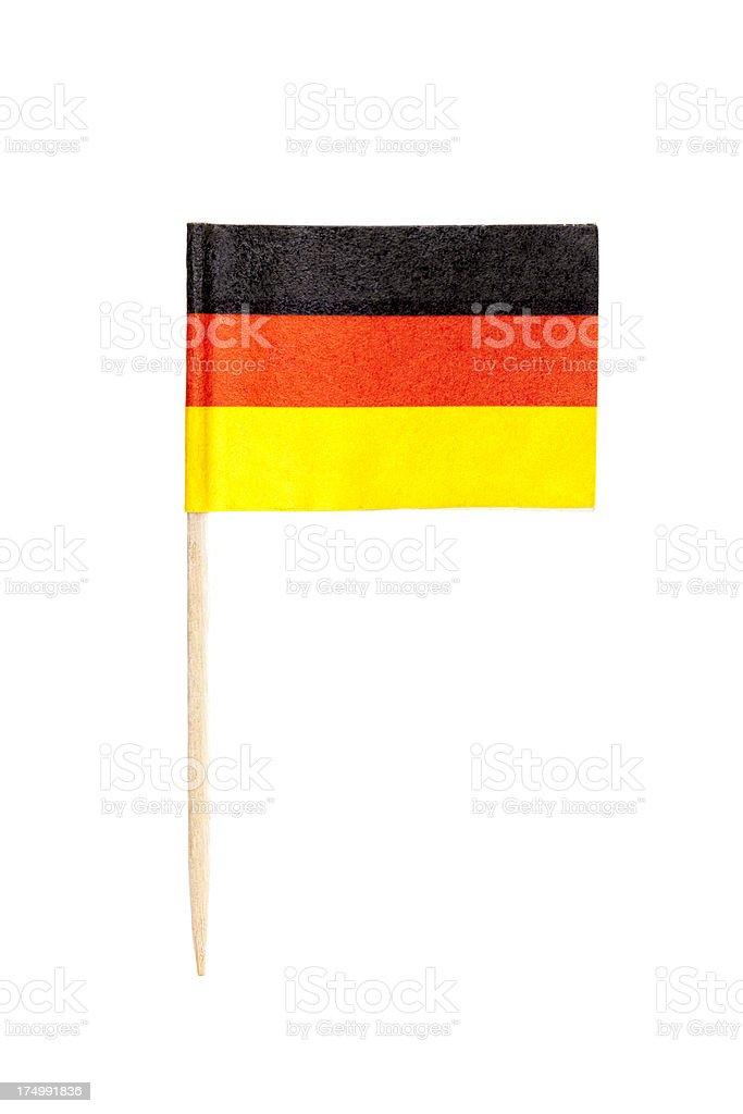 German paper flag stock photo