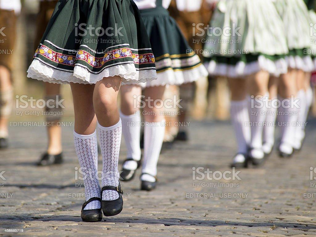 German Parade in  Brazil stock photo
