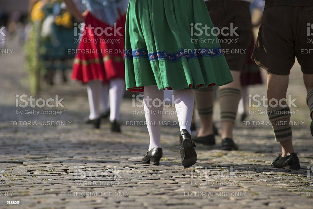 German Parade stock photo
