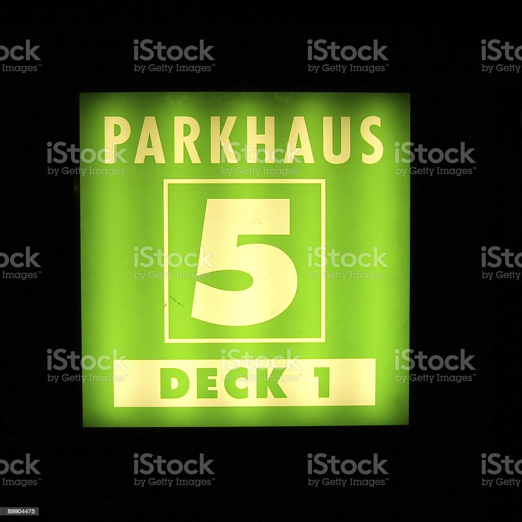 german parking royalty-free stock photo
