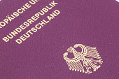 German passport closeup