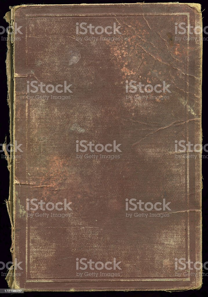 German Physics text book from 1885 (back cover) stock photo