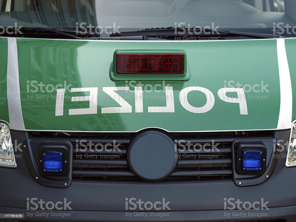 German police car royalty-free stock photo