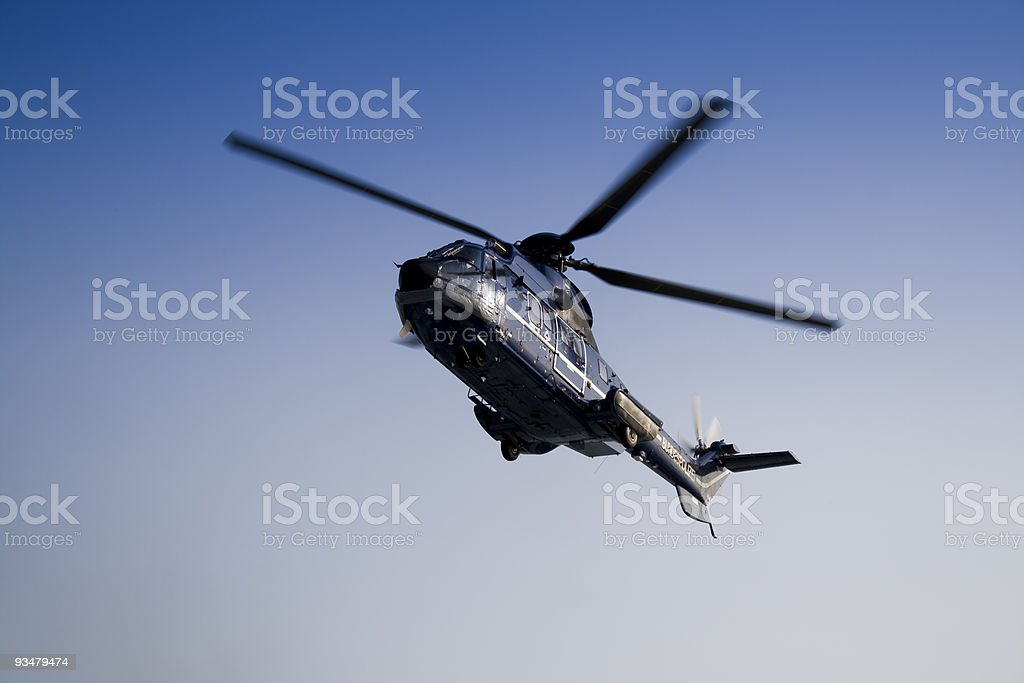 German Police Euro Copter stock photo