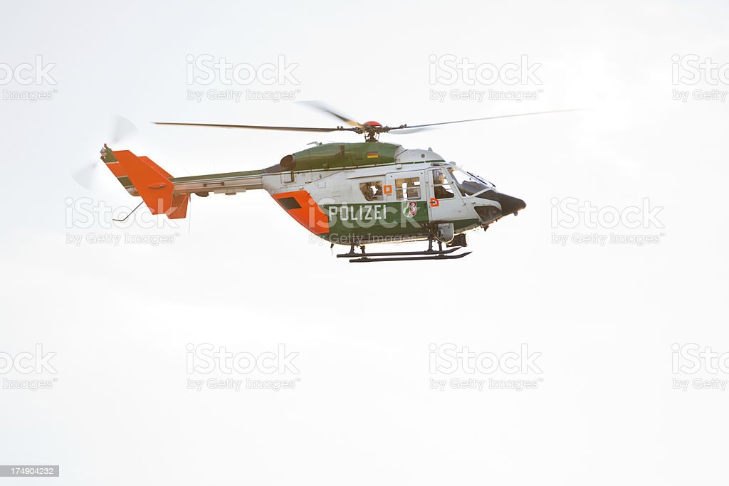 German Police Helicopter (XXXL) stock photo