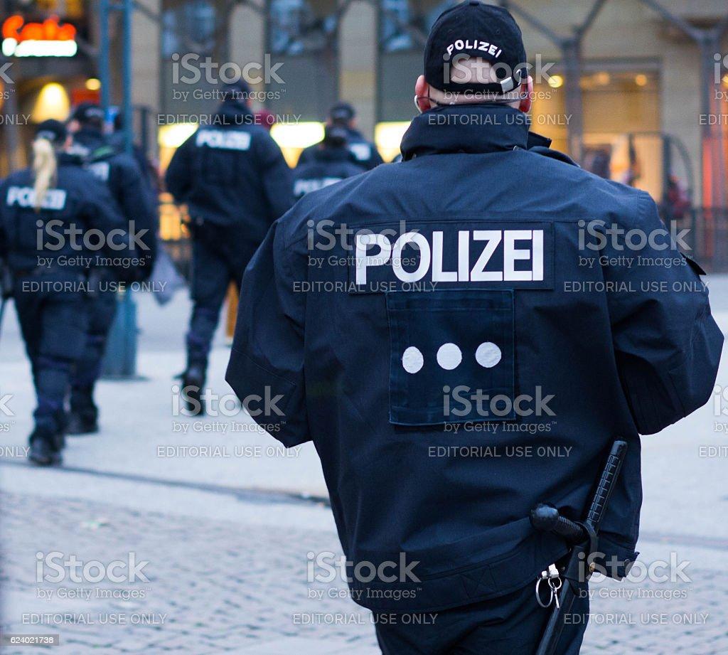 German Police stock photo