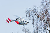 German police, rescue helicopter landing