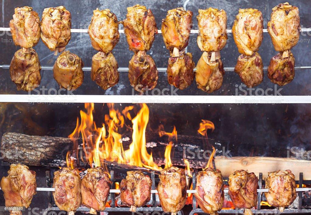 German pork legs / pork knuckle / BBQ Grill stock photo