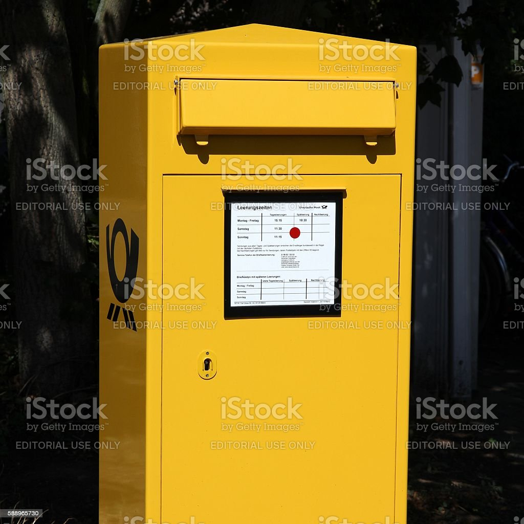 German Post stock photo