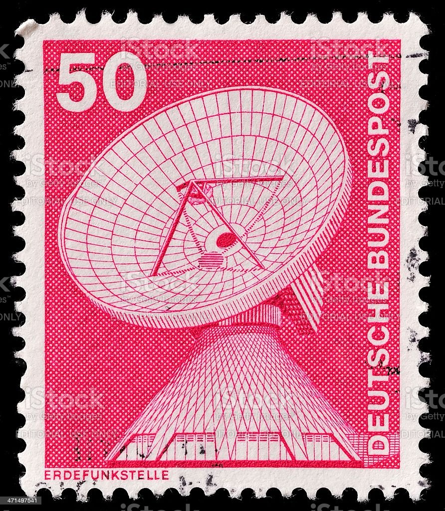 German Postage Stamp royalty-free stock photo