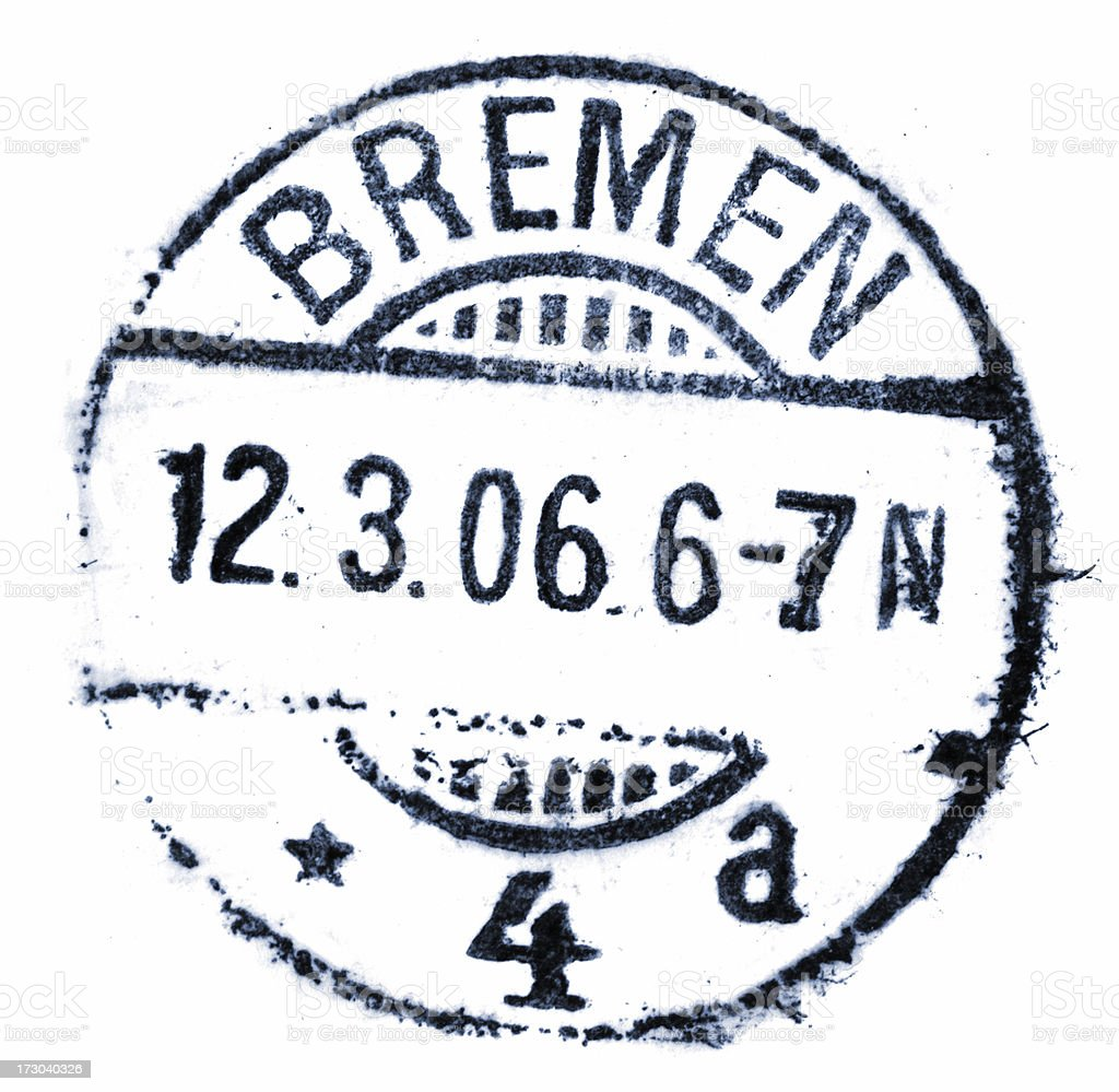german postmark stock photo