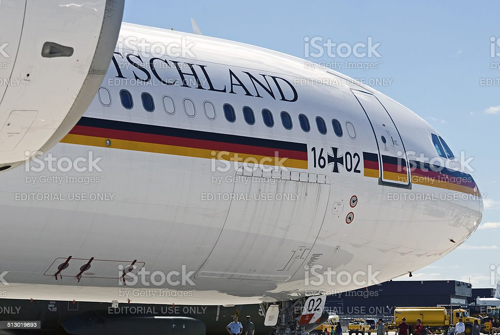 German Presidential Aircraft 'Theodor Heuss' stock photo