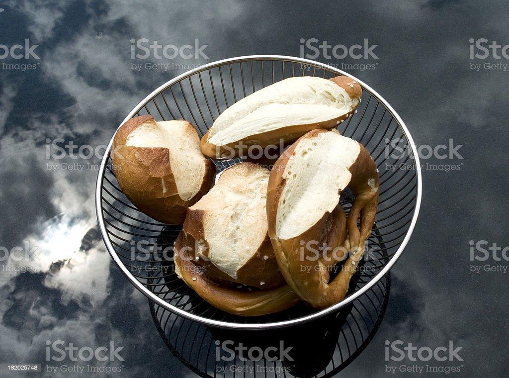 german pretzel royalty-free stock photo