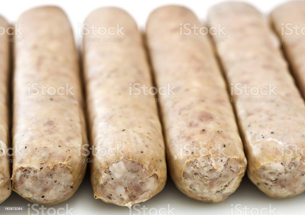 German Raw Bratwurst Sausages royalty-free stock photo