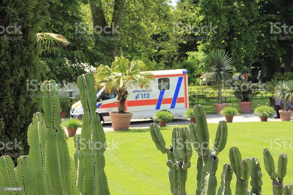 German Red Cross emergency vehicle royalty-free stock photo