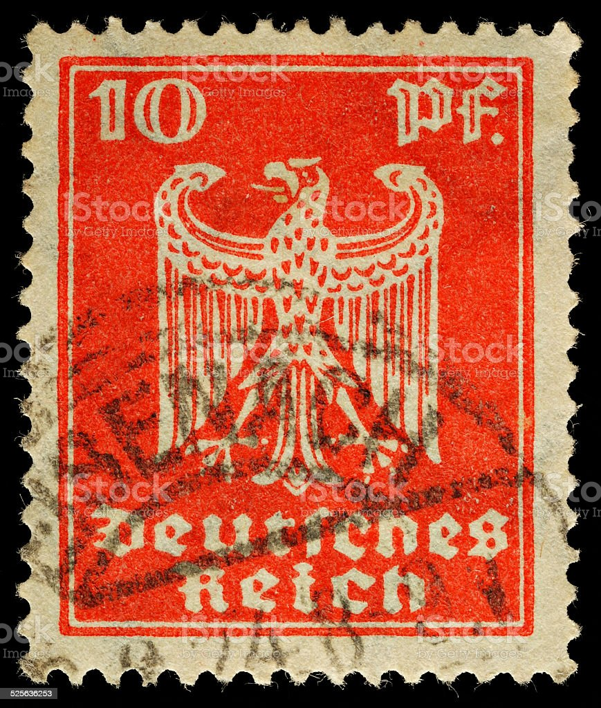 German Reich Postage Stamp stock photo