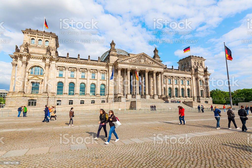 German Reichstag in Berlin, Germany stock photo