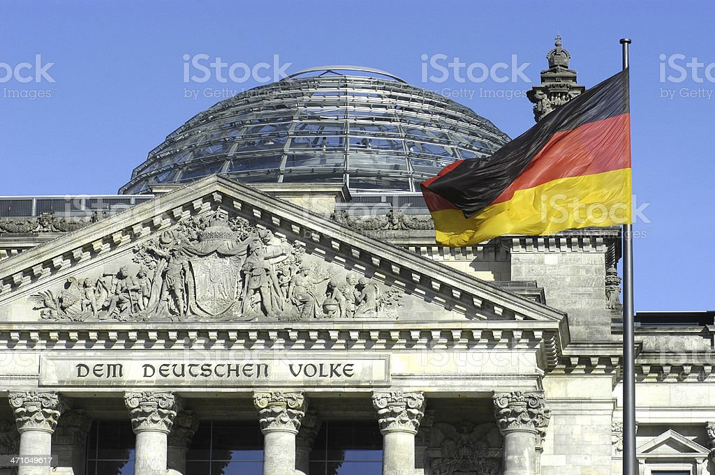 Deutscher Reichstag stock photo