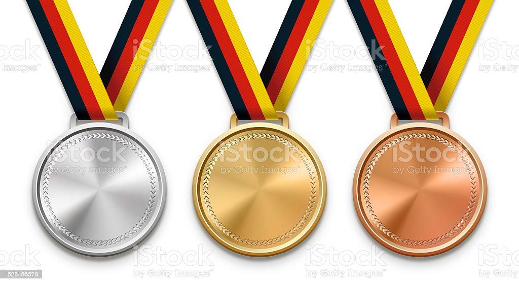 German Ribbon Medals stock photo