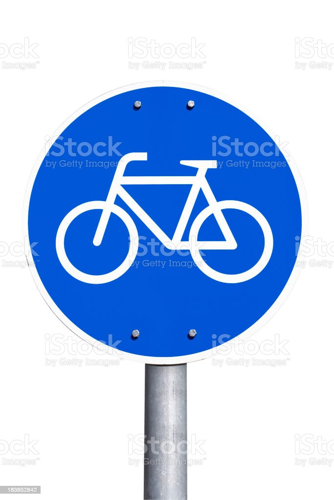 German road sign - bicycle lane, Fahrradweg royalty-free stock photo