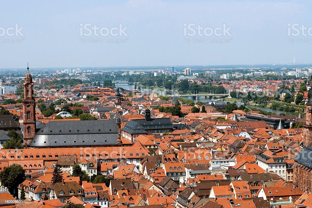 German Rooftops stock photo
