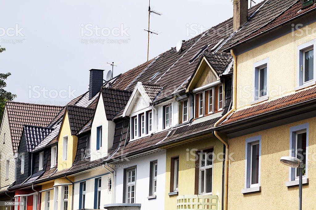 German rowhouses stock photo