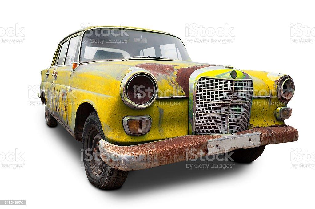 German rusty classic car stock photo