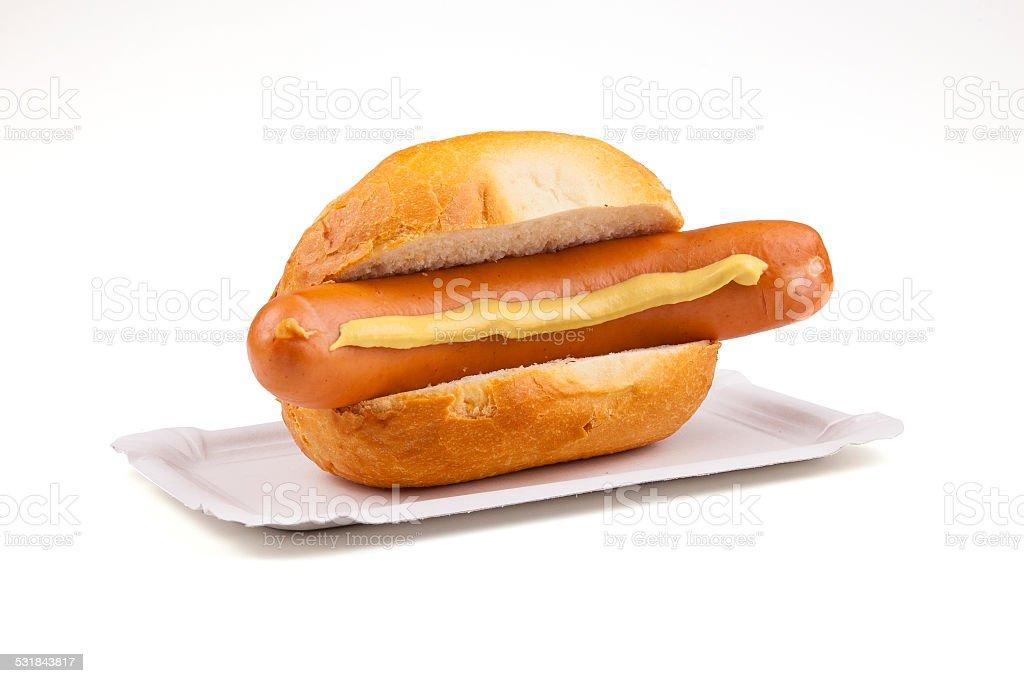 german sausage - Deutsche Bockwurst stock photo