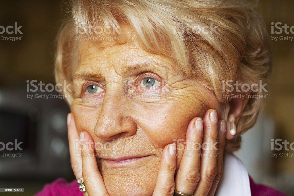 German senior woman royalty-free stock photo
