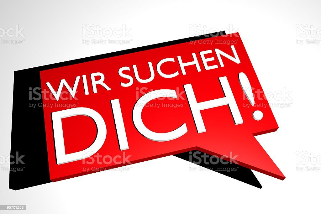 German sign, we want you stock photo