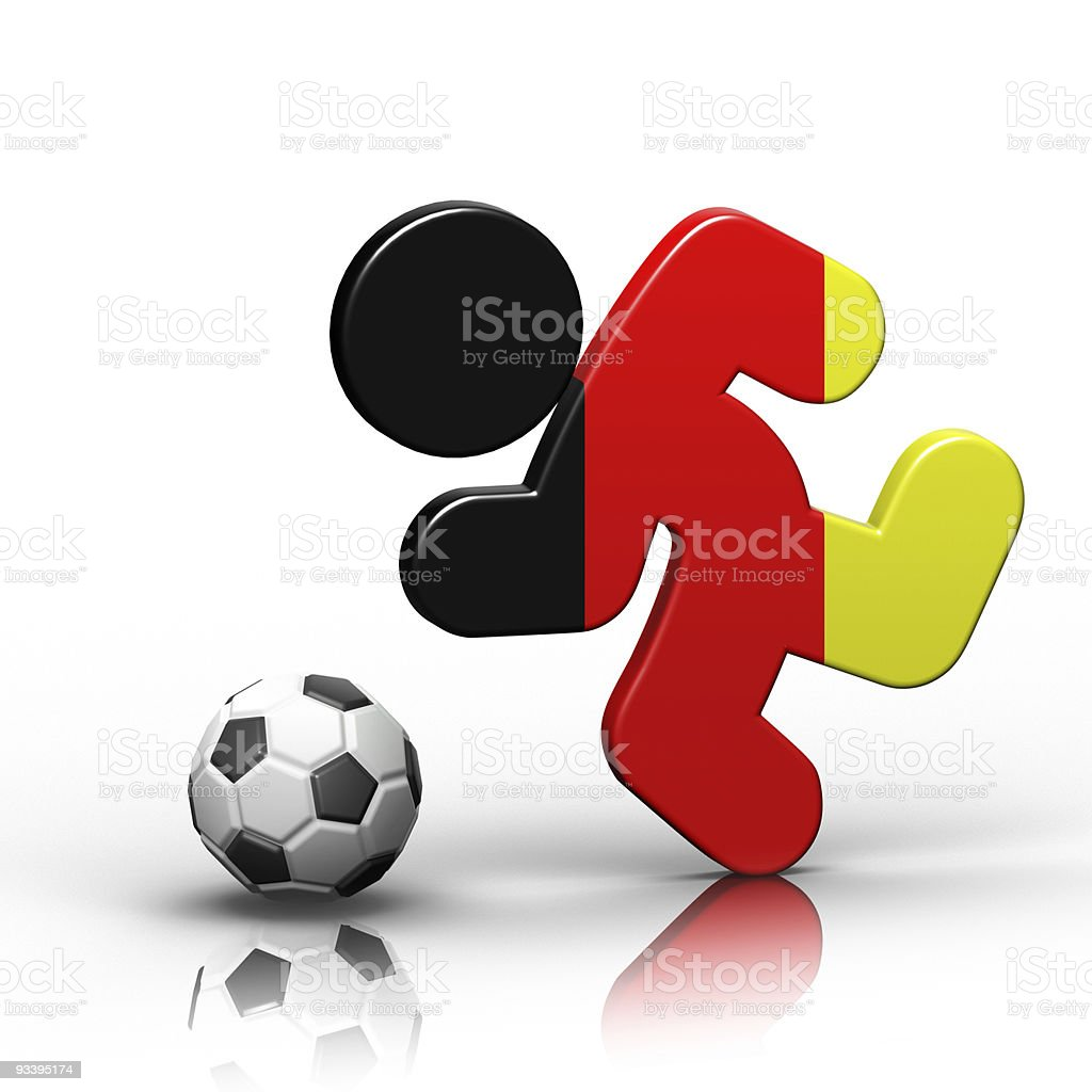 German Soccer royalty-free stock photo